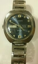 ZODIAC SST 36000 vintage Automatic BLUE DIAL RUNNING nice watch. Lot 142