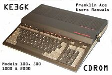 Franklin Ace 100, 500, 1000 & 2000 Users Manuals * CDROM * PDF
