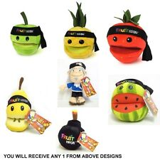 Fruit Ninja Sensei Pineapple Pear Strawberry Apple Bomb 8 Inch Plush Soft Toy