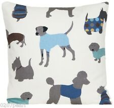Dogs Cushion Cover Man's Best Friend Throw Pillow Case Cotton Printed Fabric