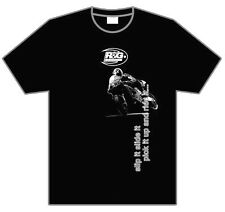 """R&G Racing T-Shirt """"Slip it, Slide it, Pick it up and Ride it"""" Black Size Large"""