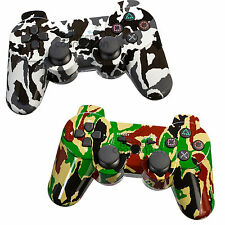 Lot2 Wireless Bluetooth Game Controller for Sony PS3 Camouflage Black+Yellow