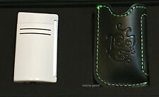 S.T. Dupont Chrome White MaxiJet Torch Lighter (020159N) & Pouch, New In Box