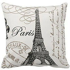 "18""  Beauty France Paris Eiffel Tower Home Decorative Pillow Case Cushion Cover"