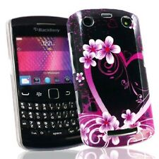 Elegante in Plastica Rigida Case Cover per BlackBerry 9350 9360 9370-Heart & Flowers