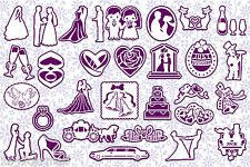 CRAFT ROBO/SILHOUETTE Love & Marriage topper & mat templates CD111 by cocopopart