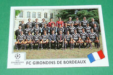 N°256 TEAM FC GIRONDINS BORDEAUX PANINI FOOTBALL CHAMPIONS LEAGUE 1999-2000
