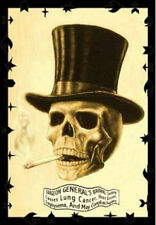 SMOKING SKULL POSTER - 24x36 WARNING ART FANTASY 25