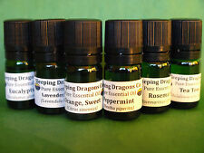 6 Pure Essential Oils Set, Therapeutic Grade 5mls, Eurodroppers, Natural Healing