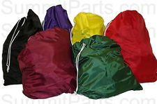 "30"" x 40"" LARGE ASSORTED COLORS NYLON LAUNDRY BAGS SOLD BY THE DOZEN - NBAGLG"