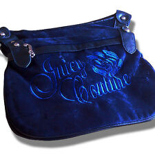 Blue Juicy Couture Design Velour Donna Borsa A Tracolla/Borsetta Donna Medium SZ