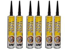 U-pol Tiger Seal Adhesive Sealant x 6 - BLACK
