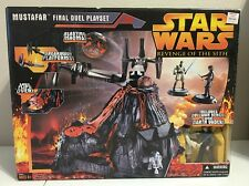 STAR WARS REVENGE OF THE SITH MUSTAFAR FINAL DUEL PLAYSET OBI WAN DARTH VADER