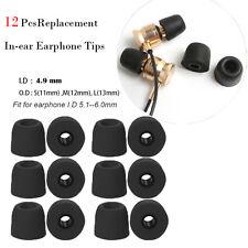 4.9mm Earbud Cover replacement ear tips In ear earphone memory Sponge foam S M L