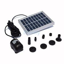 DC 4.5-12V Solar Watering Pump Power Panel Kit Fountain Pool Garden Pond