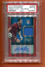 2015 PANINI SELECT PRIZM RED GIANLUIGI BUFFON JERSEY AUTOGRAPH 15 MADE PSA 10