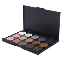 New Professional 15 Colors Warm Nude Matte Shimmer Eyeshadow Palette Cosmetic #1