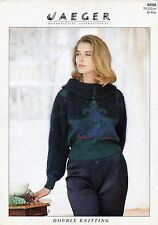 ~ Knitting Pattern For Lady's Cowl Neck Mohair Sweater ~