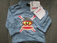 SMALL PAUL FRANK BABY BOYS LONG SLEEVED TOP MONKEY DESIGN AGE 6-9M RRP £29 NEW