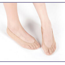 10 Pairs Womens Skin Shoe Liners Footsies Invisible Socks 20 Denier One Size