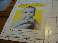 Vintage Poster: CHASE & SANBORN COFFEE: constance Bannister photo BABY #4