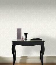 Rasch Glitter Damask Wallpaper - 267531 - White