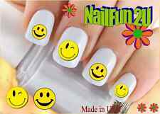 "RTG Set#592 IMAGE ""Smiley Face 2 Wink"" WaterSlide Decals Nail Art Transfers"