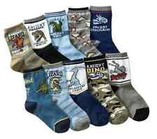 BULK... 5 pairs Kids Boys Dinosaur Theme Casual Socks ..fits 4-8 years
