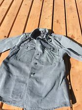 1) Large Size Genuine Swiss Denim Jean Military Jacket Army Surplus