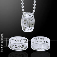 Sigil Archangel Michael .925 Sterling Silver Ring Necklace by Peter Stone