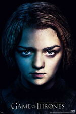 Game of thrones season 3 Arya Poster! Daughter Lord Eddard Direwolf Never Hung