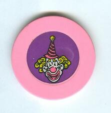 CIRCUS CIRCUS CASINO CHIP--CLOWN ROULETTE--PINK