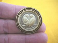 (cs7-1) DOVES bird CAMEO Pin Jewelry brooch PENDANT necklace I love dove birds