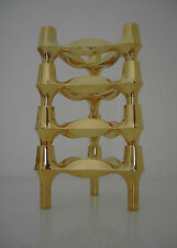FOUR BMF NAGEL CANDLE HOLDER MID CENTURY MODERN - 24 CARAT GOLD PLATED - 70s