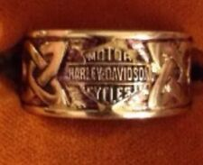 Harley-Davidson Band Ring - 10k Yellow Gold Celtic Knot Size 10 1/2 Mens
