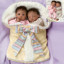 "Waltraud Hanl ""Jada And Jayden"" Poseable Twin Baby Doll Set NRFB"
