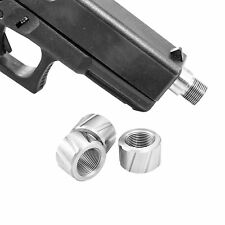 FP1 CustomMuzzleBrakes Glock 1/2-28 9mm Stainless Steel Thread Protector FLUTED