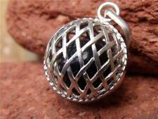 HANDCRAFTED  BALINESE 925 SILVER HARMONY BALL/CHIME BALL PENDANT