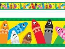 Colourful Crayons Terrific Trimmers Classroom Notice Board Display Borders
