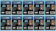 10 ULTRA PRO RECESSED MINI SNAP STANDARD SIZE Trading Card Holder Sports Case