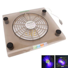 """Durable USB Cooling Fan LED Cooler Pad for Laptop 14.1""""-15.4"""" Translucent Tawny"""