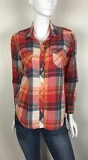 Faded Glory Women's 100% Cotton Flannel Sport Shirt Red Plaid Size Small