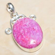 "Handmade Cherry Ruby Natural Gemstone 925 Sterling Silver Pendant 2"" #P05460"