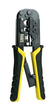 Klein Tools Ratcheting Modular Phone Data Cable Connector Crimper/Wire Stripper