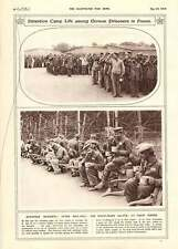 1916 Detention Camp Life German Prisoners Highlanders Ancre Sleighs For Wounded