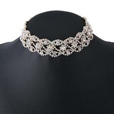 Sweet Crystal Rhinestone Pendant Choker Collar Necklace Women Wedding Jewelry