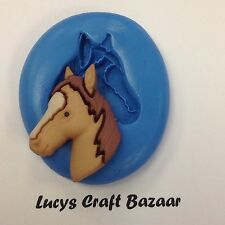 Silicone Mould 1 Horse Head Riding Pony Equestrian Cake Decorating Sugarcraft