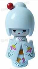 White Collectible Oriental Japanese wooden Kokeshi Dolls cute girl wood doll