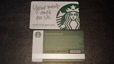 2013 YOUR NEXT ONE'S ON US series 6111 Recovery Card Starbucks Gift Card -USA