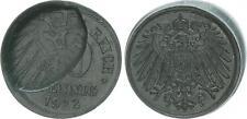 10 peniques zinc 1922 j.299 falla acuñación: valor página aprox. 35% incus vz-st